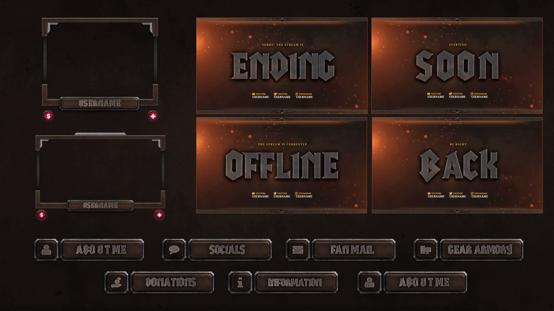 World of Warcraft Stream overlay package