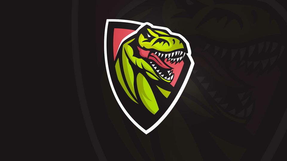 premade esports logo trex logo